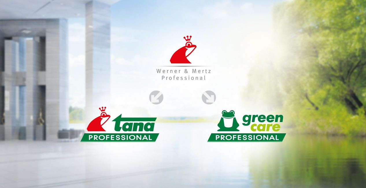 tana PROFESSIONAL and green care PROFESSIONAL brands by Werner & Mertz Professional