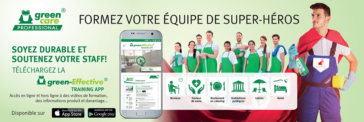 werner mertz,green care professional,green-effective,training,app,ios,apple store,android,google play,download,video,msds,produit,information